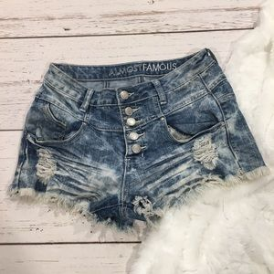 Almost Famous High Waist Jean Shorts